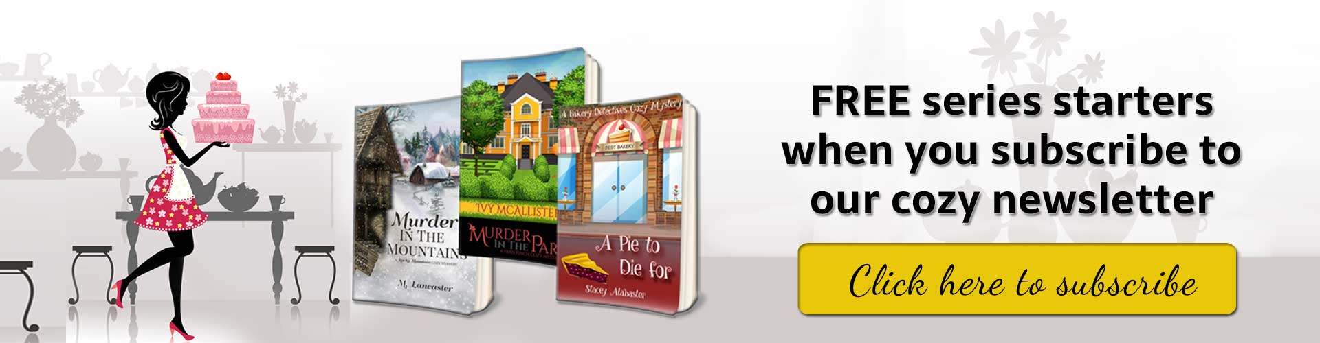 Cozy mystery newsletter offer - free books